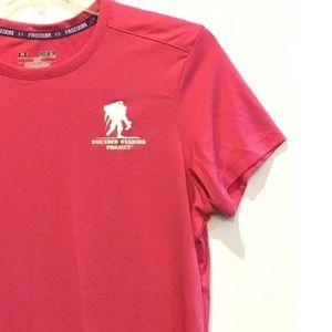 UA Pink Wounded Warrior Heat Gear Shirt